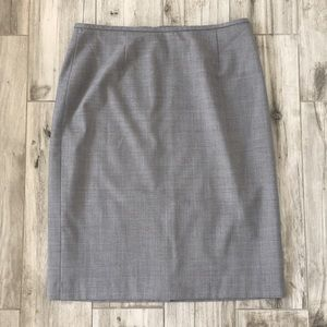 Calvin Klein Gray Pencil Skirt Size 10